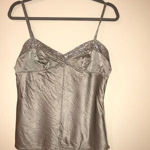 Express Design Studio silver cami with sequin trim